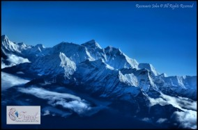 Breath-taking Everest in all its glory as seen from my window!