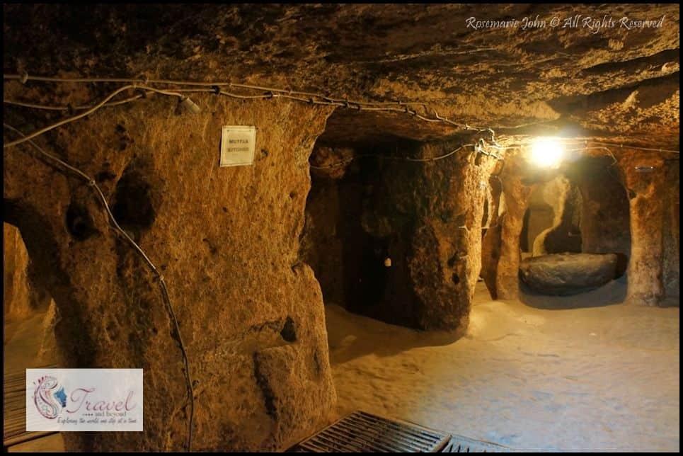 The kitchen in the Kaymakli Underground City