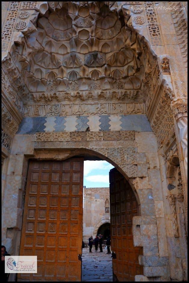 The elaborate portal...