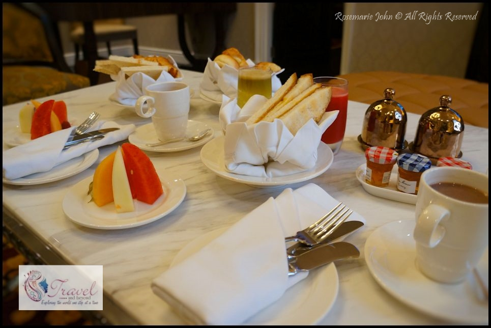 My in suite Hainanese Breakfast