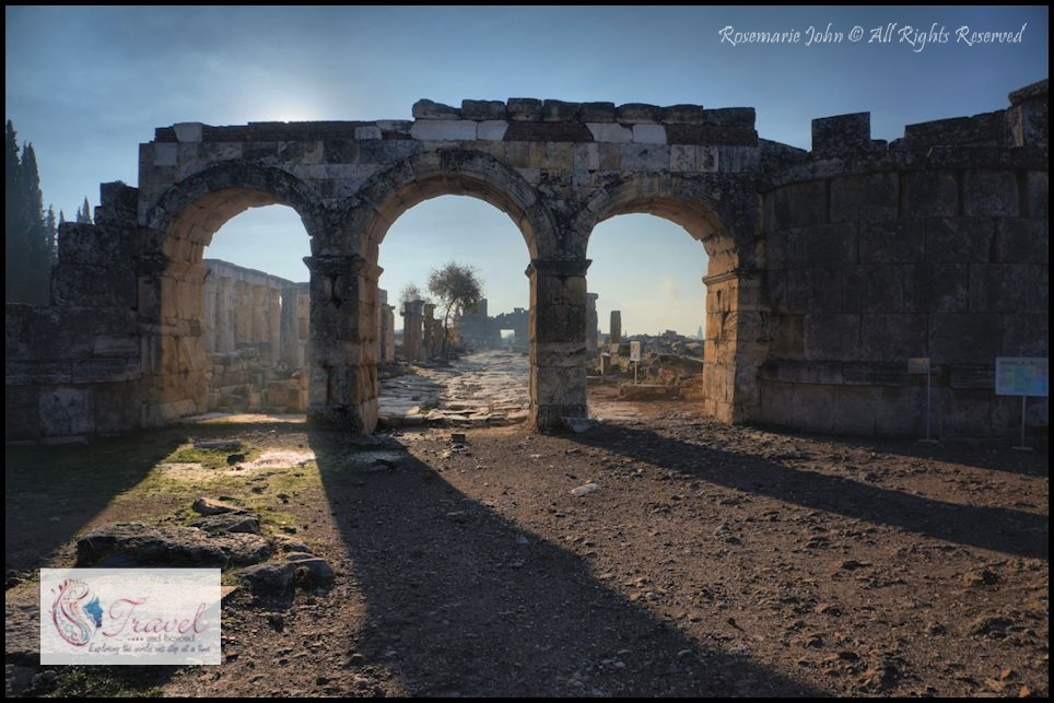 The Northern Roman Gate was the main gate to the city during the Roman period. This gate led to Laodicea and Colossai.