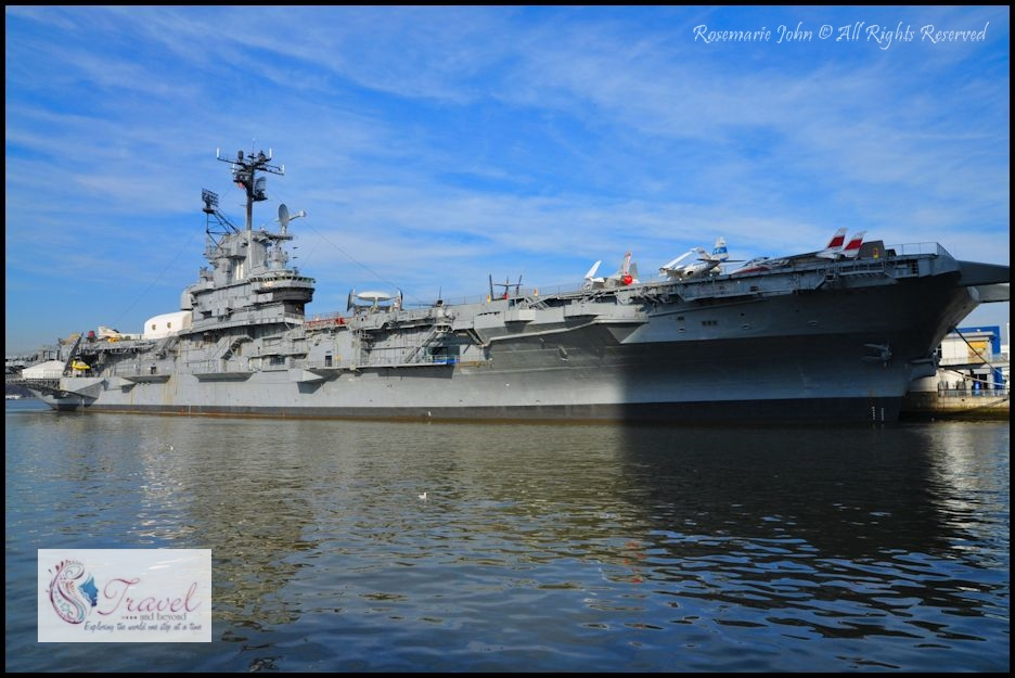 Boarding the USS Intrepid in New York City