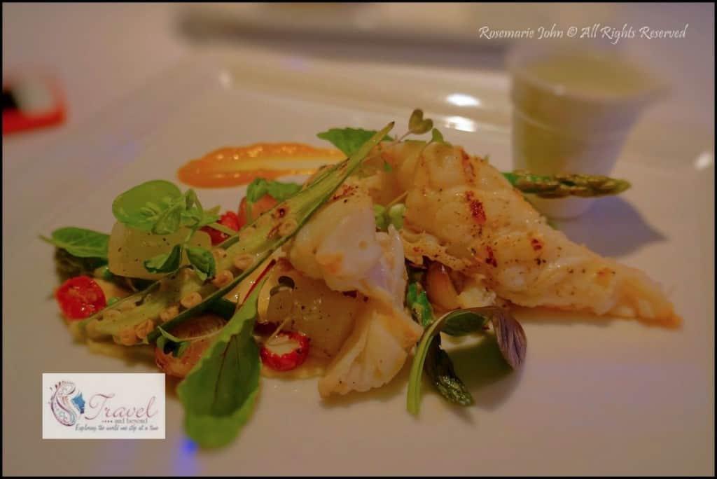 My lobster dish.... yummy!