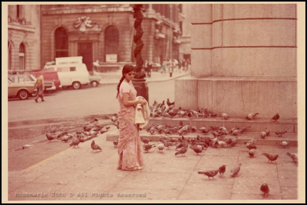 My beautiful mother walking the streets of England in the 60s - notice the shades? :)