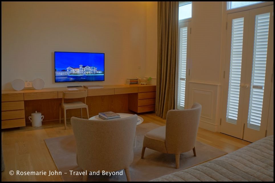 The TV in and living area in Room 3