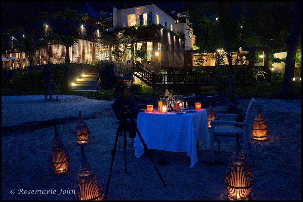 Our romantic dinner by the water.... The Bajau Laut Barbeque.
