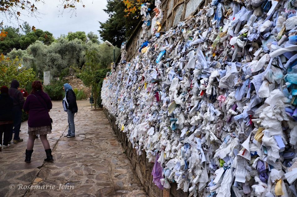 It was touching to see how visitors who place their prayers on the wall, pick up and re-tie the ones that have fallen.
