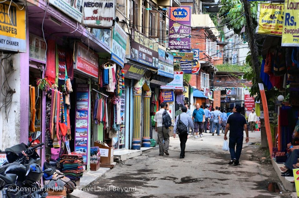 A typical scene in Thamel