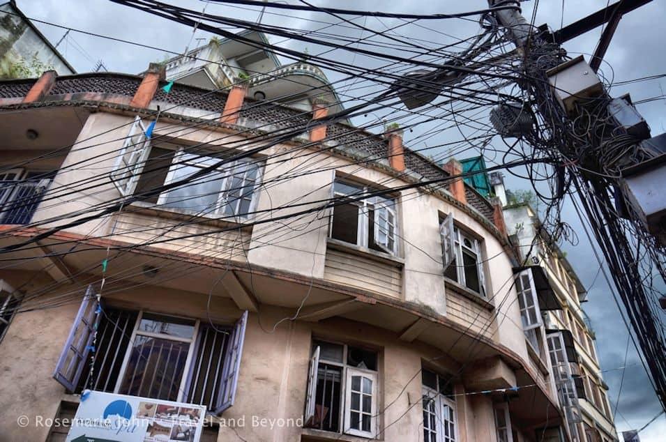 The dangerous electrical poles