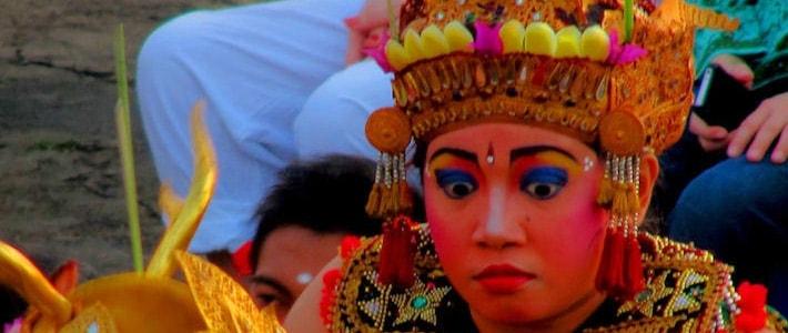 Thumbnail image for Postcard: A Balinese Dancer Performing the Kecak