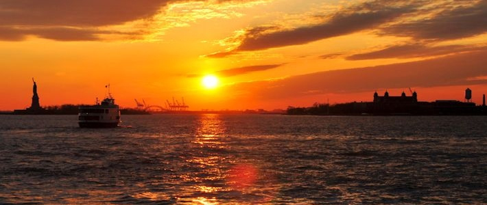 Thumbnail image for A New York Harbour Sunset