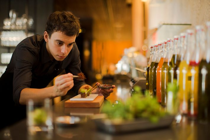 Antidote - Head Chef Carlos Montobbio at the open kitchen