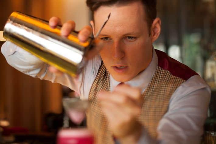 Antidote - Head Craftsman Tom Hogan at the bar