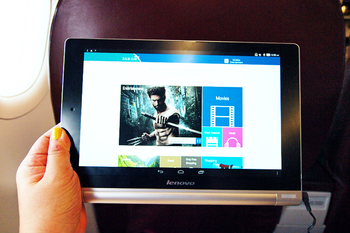Flight Tablet SilkAir Business Class